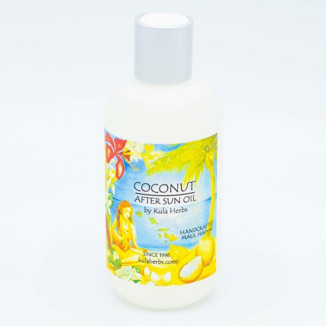 Kula Herbs Coconut After Sun Oil - 8oz.