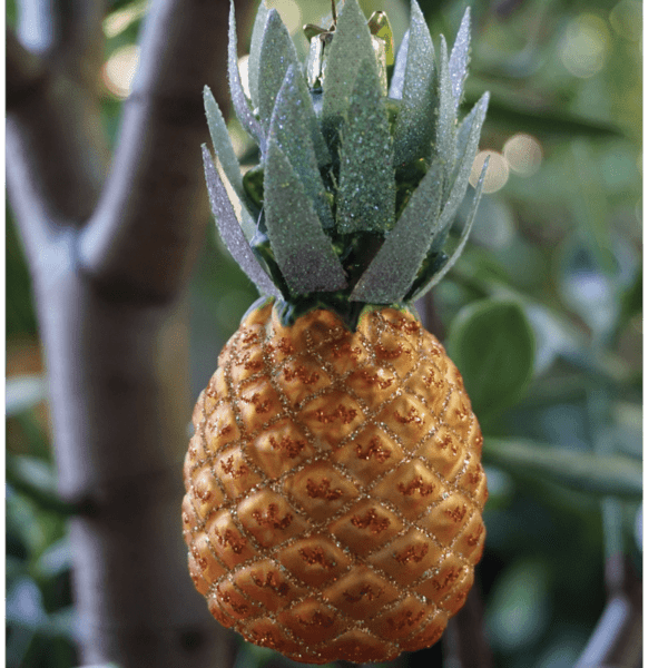 Signature Glass Pineapple Ornament